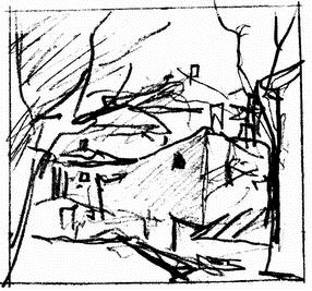 Карантин ранней весной (карандаш)